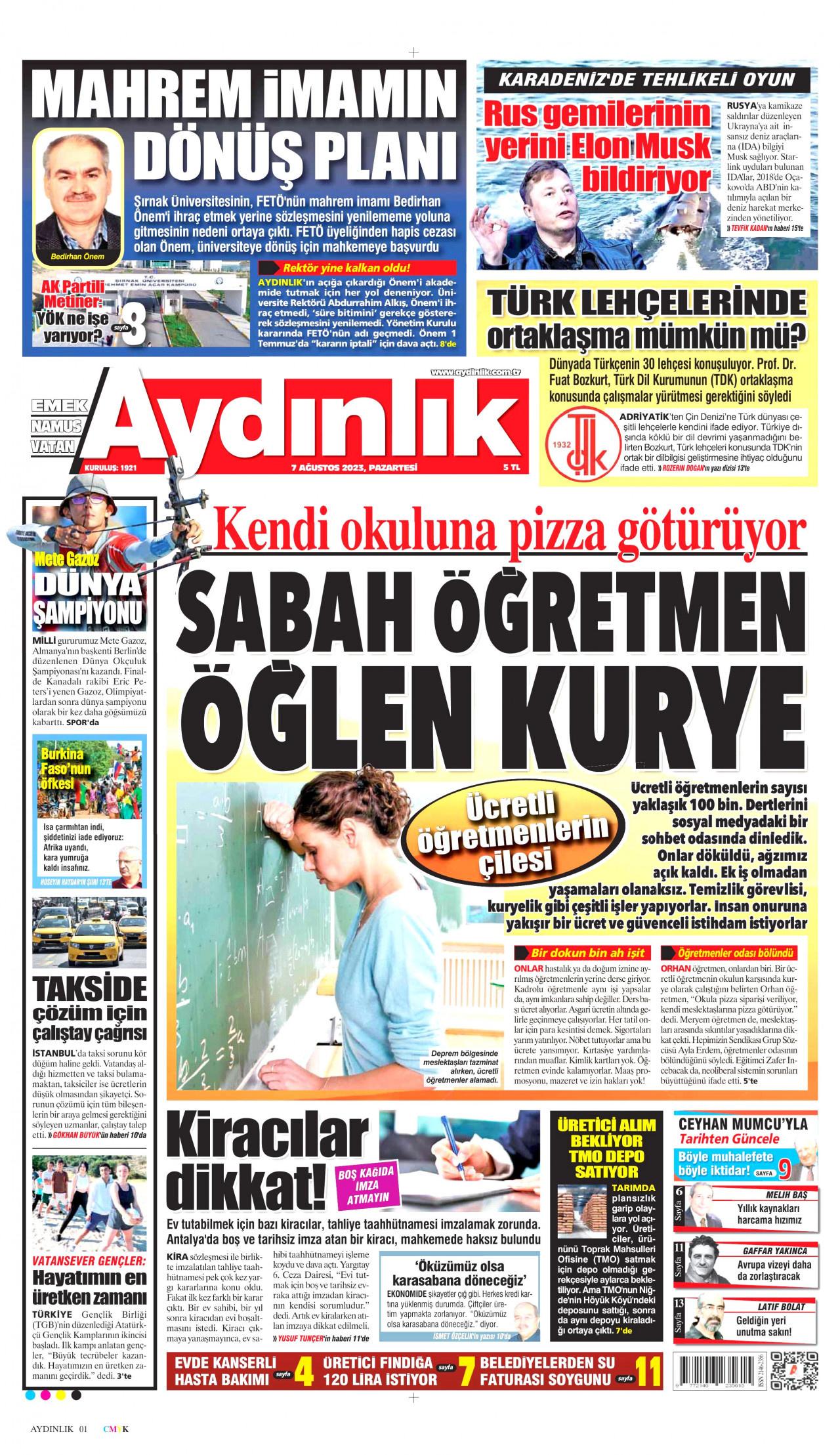 Aydinlik Gazetesi Gazetesi 16 04 2019 Gürpınarın Yükselen Sesi
